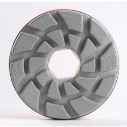 DIAMUT SPIRAL LOCK POLISH WHEEL flat resin Diam 130mm x 120 grit