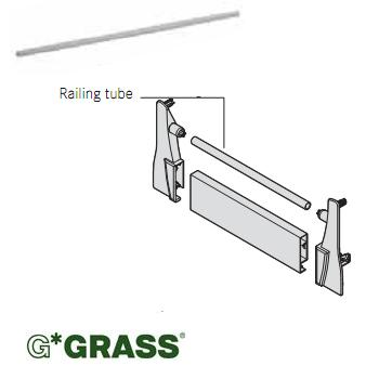 *#* Grass DWD-XP INSET RAIL 1087mm WHITE