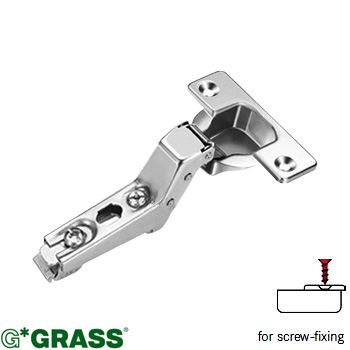 Grass Click-on HINGE 100 deg C15 Inset Screw-on Mepla pattern F015072736236