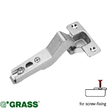 Grass Click-on HINGE +20 ANGLE 1/2 cover Screw-on Mepla pattern F015072754225