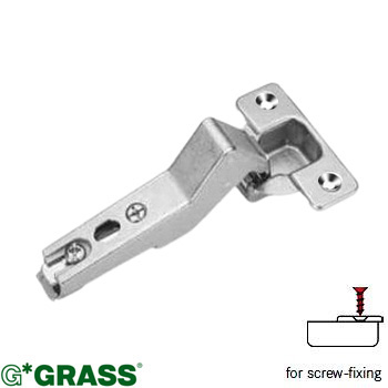 Grass Click-on HINGE +45deg ANGLE 1/2 cover Screw-on Mepla pattern F015072757225