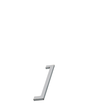 Furnipart handle FLAT 128mm Matt Chrome F745