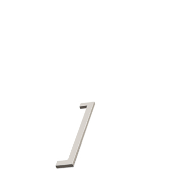 Furnipart handle FLAT 128mm Inox                        F402