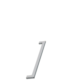 Furnipart handle FLAT 192mm Matt Chrome F747