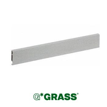 *#* Grass DWD-XP drawer FRONT PANEL profile - white - 1077mm length