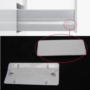 GRASS cover cap White for XP Drawers - sold per each