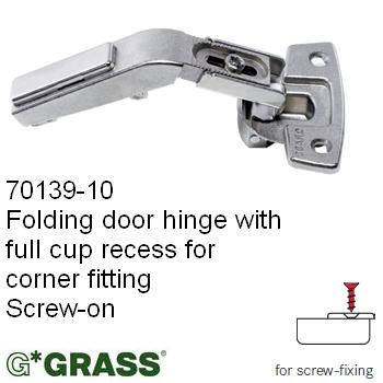 Grass Click-on HINGE CORNER Screw-on BIFOLD Grass pattern