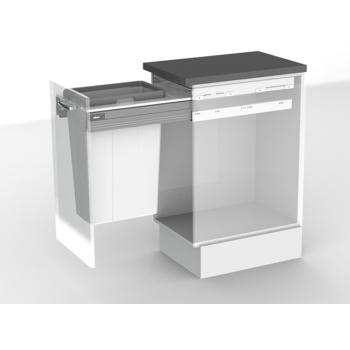 BIN & FRAME SET to suit 400mm cabinet width - no runners 1 x 35 ltr bucket and frame