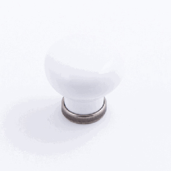 Castella MANOR 37mm Knob White/Pewter CAS223