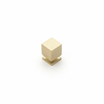 Castella CUBE 18mm Knob Brushed Brass CAS850
