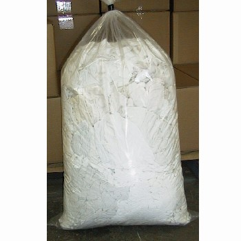 Cloth - Rag WHITE SINGLET 10kg BAG - SA only