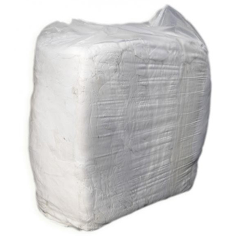 Cloth - Rag WHITE SINGLET 15kg BAG