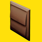 DOMUS 4900B Wall outlet with gravity flaps 100mm Brown