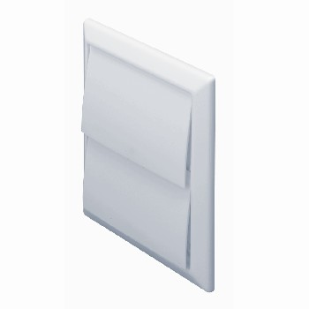 DOMUS 4900W Wall outlet with gravity flaps 100mm White
