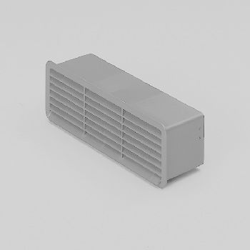DOMUS 501W Wall (Brick) outlet with louvred grill & internal damper 125mm White