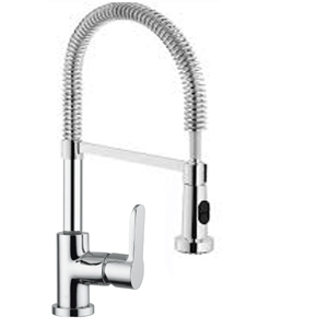 LUXE ENZA 4104/C SINK MIXER SPRINGNECK CHROME