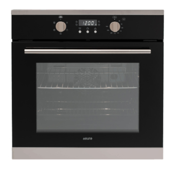 Euro EO600MX 60cm Fan Forced Multifunction Built-in Oven - Stainless/Black