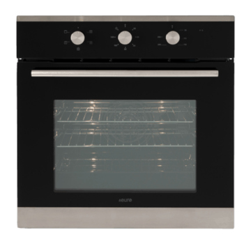 Euro EO604SX 60cm Fan Forced Multifunction Built-in Oven - Stainless/Black