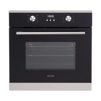 Euro EO608SX 60cm Fan Forced Multifunction Built-in Oven - Stainless/Black
