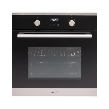 Euro EO60MXS 60cm Multifunction Built-in Oven - Stainless/Black