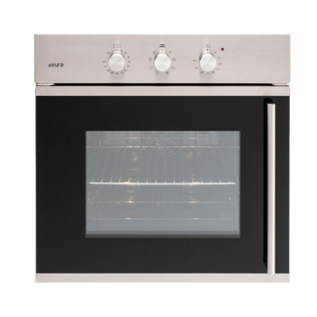 Euro EO60SOSX 60cm Side Opening Multifunction Built-in Oven - Stainless/Black