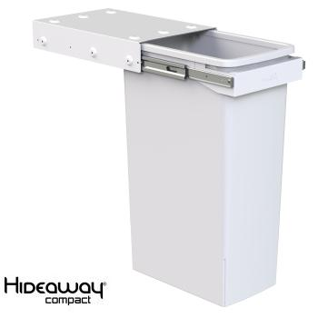 Hideaway Compact bin KC140SCH Handle pull 1 x 40ltr White SOFT CLOSE
