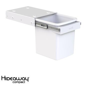 Hideaway Compact bin KC15SCH Handle pull 1 x 15ltr White SOFT CLOSE
