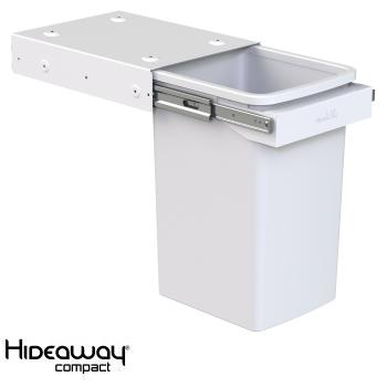 Hideaway Compact bin KC20H Handle pull 1 x 20ltr White