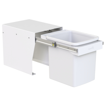 Hideaway Compact bin KCF115SCH Handle Pull 1 x 15ltr White FLOOR MOUNT SOFT CLOSE