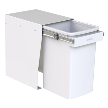 Hideaway Compact bin KCF120SCH Handle Pull 1 x 20ltr White FLOOR MOUNT SOFT CLOSE