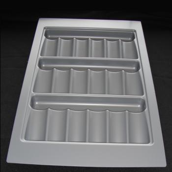 SPICE TRAY ABS 340mm x 520mm x 35mm Silver Grey for 400mm ext carcase - CT400E