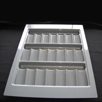SPICE TRAY ABS 390mm x 520mm x 35mm Grey Gloss for 450mm ext carcase - CT450E