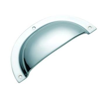 Traditional 3581CP PLAIN PRESSED DRAWER PULL  97mm x 40mm Polished Chrome B009