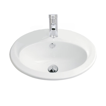 VINCENT G2011TH Vanity Basin 550mm x 445mm 1 Taphole White
