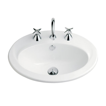 Vanity Basin 550mm x 445mm 3 Taphole White