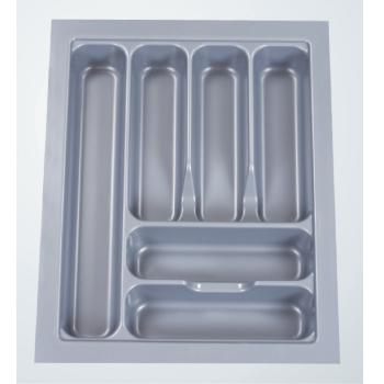 CUTLERY TRAY ABS 385mm x 485mm x 60mm Grey Gloss for 450mm ext carcase