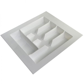 CUTLERY TRAY KCI01 WHITE PLASTIC 450mm WIDE X 435mm DEEP
