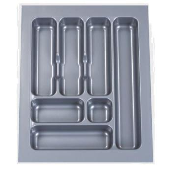 CUTLERY TRAY ABS 385mm x 484mm x 50mm Grey Gloss for 450mm ext carcase